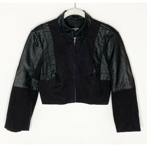 BeBe Cropped Pleather Faux Leather jacket